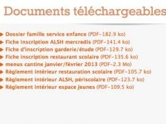 Liste de documents en téléchargement